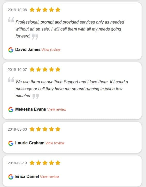 Google Reviews CORPTEK